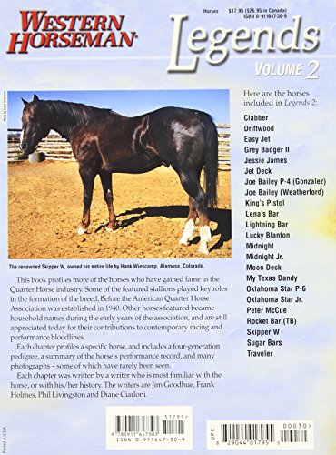 Legends: Outstanding Quarter Horse Stallions and Mares: 002 (A Western Horseman Book)