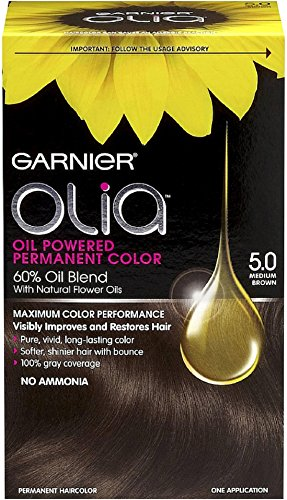 Garnier Olia Oil Powered Permanent Color, Medium Brown [5.0] 1 ea (Pack of 3) (Hair Color Olia compare prices)