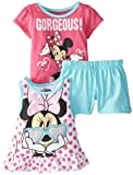 Disney Baby-Girls Infant 3 Piece Minnie Mouse Screenprint Pullover Set