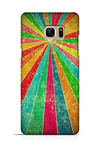 Cover Affair Colourful Pattern Printed Back Cover Case for Samsung Galaxy Note 7