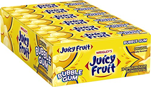 Juicy Fruit Bubble Gum, Original, 1.41 Ounce (Pack of 18) (Juicy Fruit Gum compare prices)