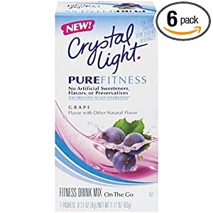 Crystal Light On The Go Pure Fitness Grape, 2.17-Ounce Boxes (Pack of 6)