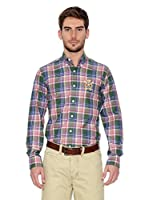 Polo Club Camisa Hombre Checks (Verde)
