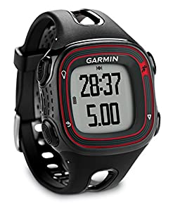 Garmin Forerunner 10 GPS Running Watch - Black/Red, Large