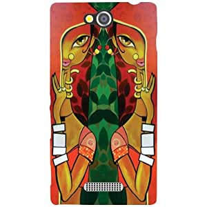 Sony Xperia C Back Cover - Two Hands Designer Cases