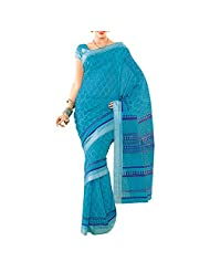 Saree Dotcom Art Silk Saree (Light Blue) - B00M3T409S