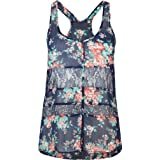 FULL TILT Pieced Button Front Chiffon Womens Tank