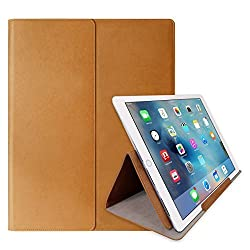 iPad Pro Case, Araree [Stand Clutch] Premium Leather Soft Touch with Stand Cover Clutch Case Compatible with iPad Pro and Most 12-Inch Laptops (2016) (Light Brown)