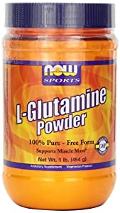 NOW Foods L-Glutamine Pure Powder, 1-Pound
