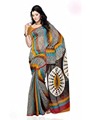 Shariyar Multi Color Art Silk Printed Saree PRG347