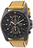 Seiko Men's Quartz Chronograph Watch SNDD69P1 with Leather Strap