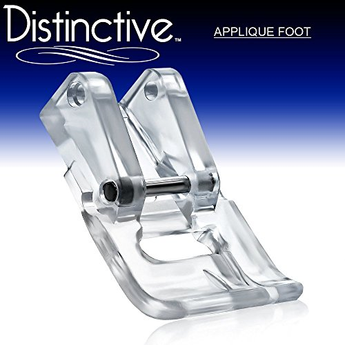 Distinctive Applique Clear Sewing Machine Presser Foot - Fits All Low Shank Snap-On Singer*, Brother, Babylock, Euro-Pro, Janome, Kenmore, White, Juki, New Home, Simplicity, Elna and More! (Machine Applique compare prices)