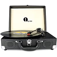 1byone Belt-Drive ortable Stereo Turntable