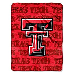 Buy NCAA Texas Tech Red Raiders 46-Inch-by-60-Inch Micro-Raschel Blanket, Grunge Design by Northwest