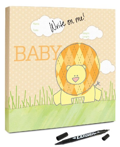 "Canvas Kudos ""Baby Lion"" Decorative Sign, 20 by 20-Inch"