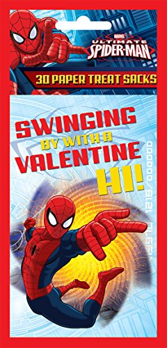 Paper Magic Valentine Treat Bags Spiderman (30 Count) - 1