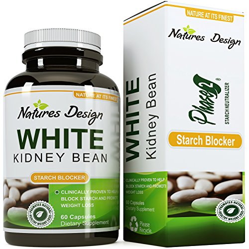Pure White Kidney Bean Extract- 100% Effective and Optimized for Weight Loss - Carb Blocker and Prevents Fat From Forming - USA Made By Natures Design