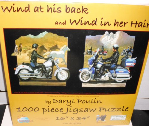 Wind in her Hair & Wind on his Back 1000pc Jigsaw Puzzle by Daryl Poulin - 1
