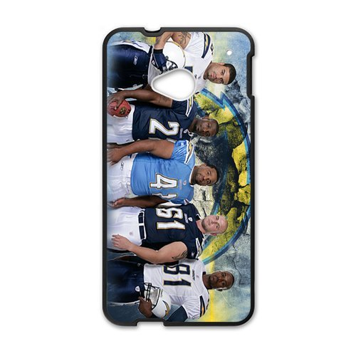 Blue And White Chevron San Diego Chargers Htc One M7 Shell Case Cover (Laser Technology)