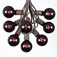 25 Foot G50 Outdoor Lighting Patio Globe String Lights, Brown Wire, 25 Bulbs by Novelty Lights