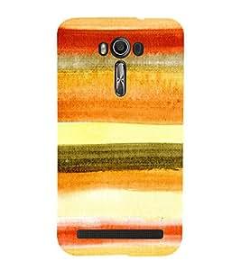 MULTICOLOURED ARTISTIC CLOTH FINISH OVERLAPPING WAVES PATTERN 3D Hard Polycarbonate Designer Back Case Cover for Asus Zenfone 2 Laser ZE550KL :: Asus Zenfone 2 Laser ZE550KL (5.5 Inches)