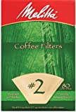 Melitta Bamboo Coffee Filters, #2, 80-Count Boxes (Pack of 6)
