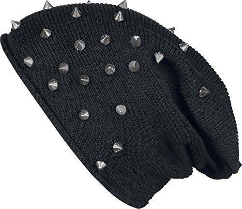 Black Premium by EMP Studded Light Beanie Basco nero