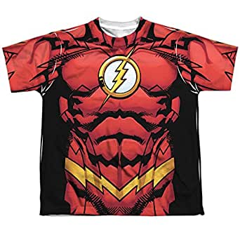 The flash dc comics superhero new 52 costume Boys superhero t shirts