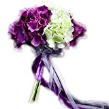 ピースマイル(p-smile) あじさい 紫陽花 アジサイ 夏 ブーケ 花束 造花 前撮り コスプレ リボン 花嫁 ブライダル 結婚式 ウェディング 可愛い 安い プチプラ お買い得