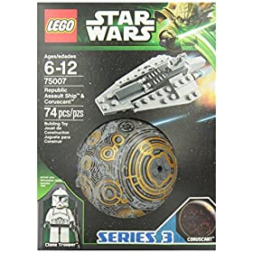 LEGO Star Wars Republic Assault Ship and Coruscant (75007)