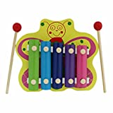 Butterfly Animal Wooden Xylophone - Green - 5 Notes
