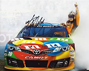 Buy AUTOGRAPHED 2014 Kyle Busch #18 M&M's Racing Team (Joe Gibbs) 8X10 SIGNED NASCAR Hero Card w  COA by Trackside Autographs