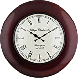Swagger 12 Inch Dial 18X18 Inches Cherry Brown Wall Clock / Vintage Wall Clock / Antique Wall Clock / Wooden Wall...