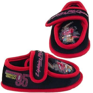 Disney Pixar Cars Kids Black Slippers