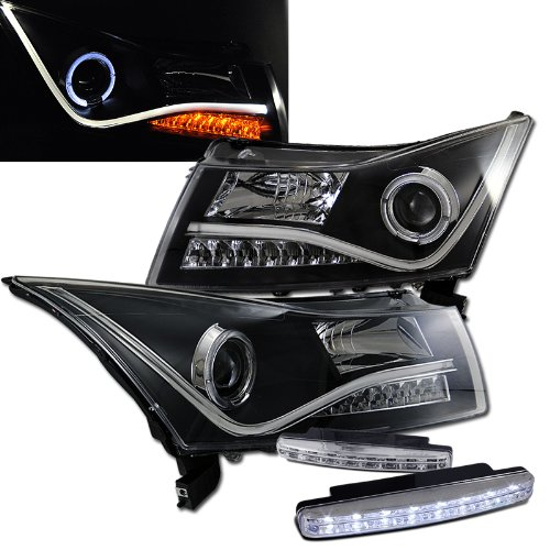 2011 Chevy Cruze Halo Headlights Projector + 8 Led Fog Bumper Light (2012 Chevy Cruze Halo Headlights compare prices)