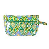 Stylocus Printed Cotton 4 Compartment Green Pouch