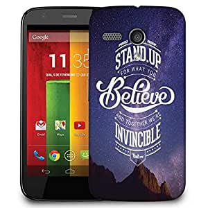 Snoogg Stand Up And Believe 2740 Designer Protective Phone Back Case Cover For Motorola G / Moto G