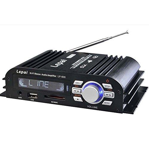 Eaglerich Lepy LP-600 Hi-Fi Mini FM Audio 25W * 2 Amplificatore con SD USB MP3