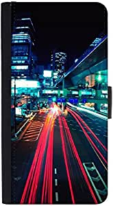 Snoogg City Quick Graphic Snap On Hard Back Leather + Pc Flip Cover Htc M9