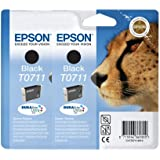 2 x Epson Tintenpatronen T0711 - schwarz