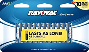 Rayovac 824-12C Maximum AAA Alkaline - 12 Pack