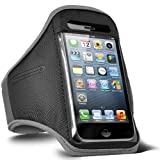 Direct-2-Your-Door - Apple Iphone 4S Sports Armband Strap Pouch Case Cover - Grey