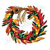 "Birddog Distributing Inc. 10235PLW 16"" 120V Chili Pepper Wreath Light"