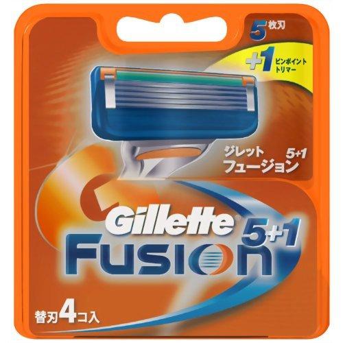 ジレット フュージョン 5+1 替刃 4個入