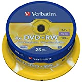 Verbatim 43489 4.7GB 4x DVD+RW - Matt Silver Spindle 25 Pack