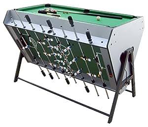 Table de jeux 3 en 1 : babyfoot + billard + air hockey Table d'activités jeux de bar