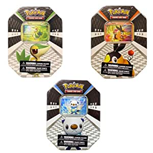 Pokémon  USA TCG: 2011 Spring Collectors Tin Assortment  - Snivy, Tepig, and Oshawatt