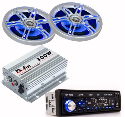 300W Auto Musikanlage Endstufe LED Lautsprecher