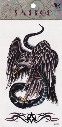 Temporary Tattoo Eagle and Snake Tattoo - 1