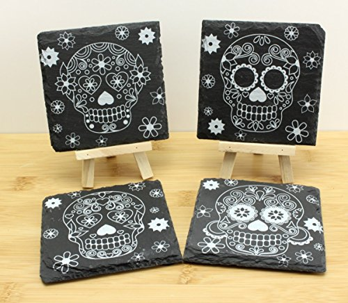 day-of-the-dead-sugar-skull-slate-coasters-beer-mat